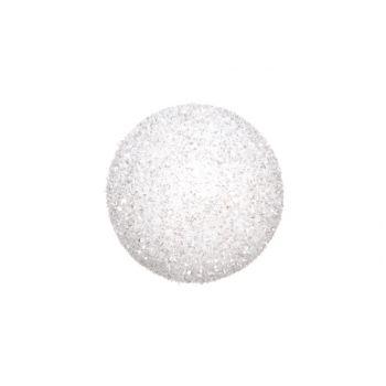 Cosy @ Home Schneeball Weib Glitter 15cm