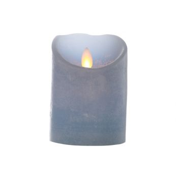 Cosy @ Home Cylinder Kerze Led Blau D8xh11cm