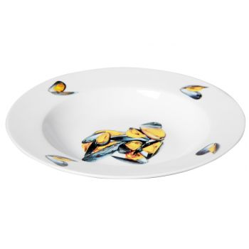 Cosy & Trendy Musselplate Set6 D21,5xh3cm Deco Mussels