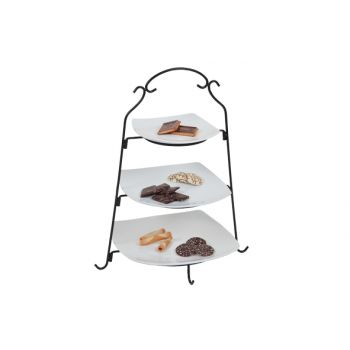 Cosy & Trendy Tortenstander Black With 3 Plate White