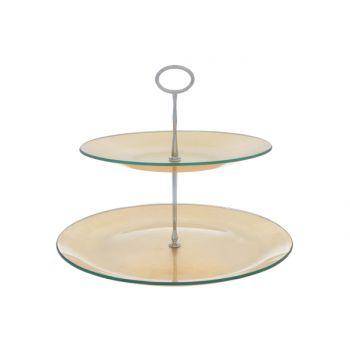 Cosy & Trendy Etagere D25-31xh25cm Glas, Gold