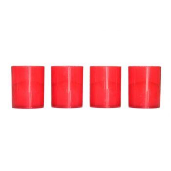 Cosy & Trendy Ct Set 4 Gravelights Red D5xh6cm