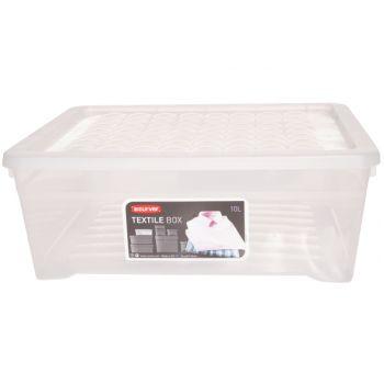 Curver Textile Box Storage Box Transparent 10l