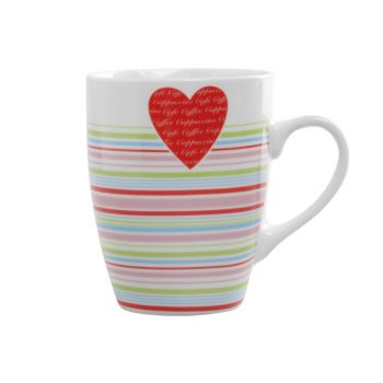Cosy & Trendy Love Heart Mug D8xh10.5cm - 33cl