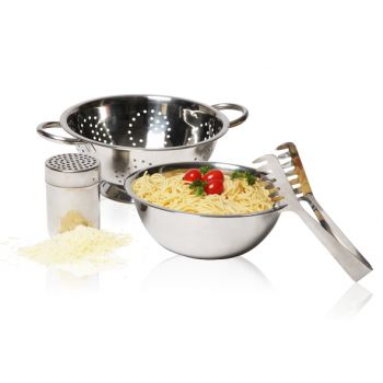 Cosy & Trendy Pasta Set 4pcs Colander-mxing Bowl-tong