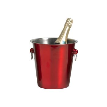 Cosy & Trendy Red Champagne Bucket D21xh21cm