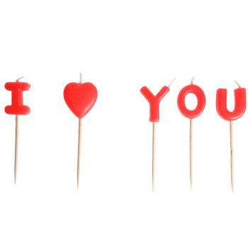 Cosy & Trendy Bougie  I Love You Set5 8cm