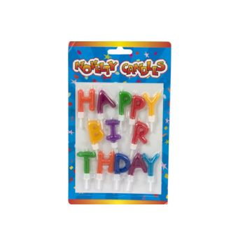 Cosy & Trendy Mini-kaarsset 13 Letters Happy Birthday