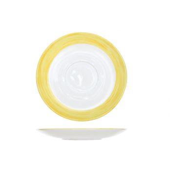 Arcoroc BÜrste Saucer Gelb 14cm