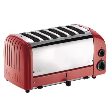Dualit Vario broodrooster 6 sleuven rood 60154