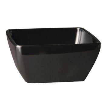 APS Pure vierkante melamine kom zwart 12.5x12.5cm