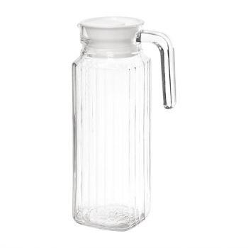 Olympia glazen kannen met deksel 1L
