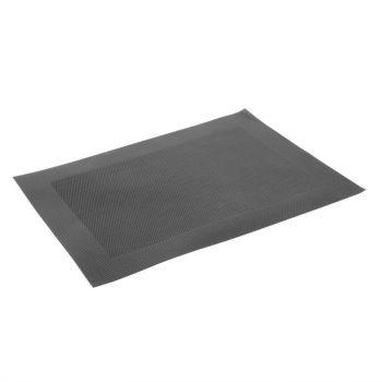 Olympia PVC geweven placemats zwart