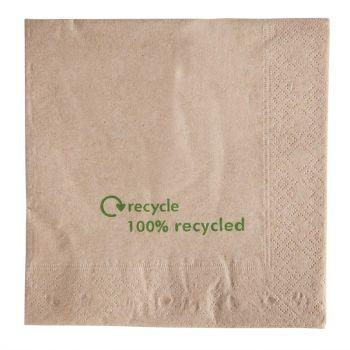 Gerecyclede servetten van kraftpapier 2-laags