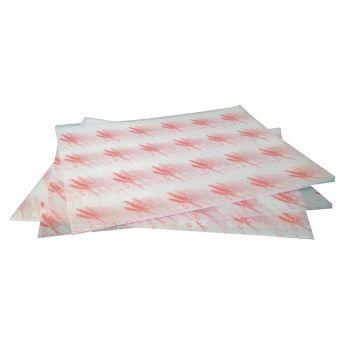 Vetvrij hamburger papier rood