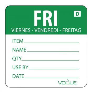 Vogue oplosbare kleurcode voedseletiketten vrijdag