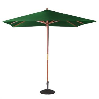 Bolero vierkante groene parasol 2.5 meter