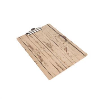 Olympia menu klembord met hout-effect A4