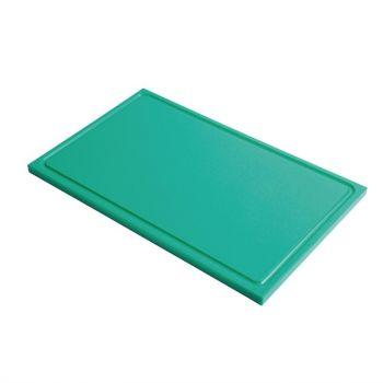 Gastro M GN1/2 HDPE snijplank met sapgeul groen