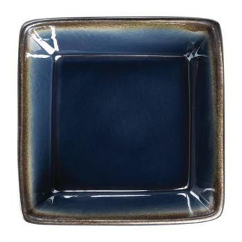 Olympia Nomi vierkante tapaskommen blauw-zwart 11x11cm