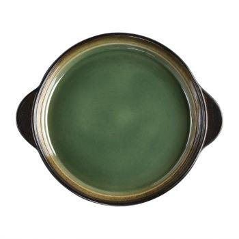 Olympia Nomi ronde tapasschalen groen-zwart 19cm