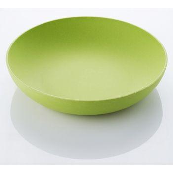 Salat-Schüssel aus Bambus 32,5x17,5cm Grün