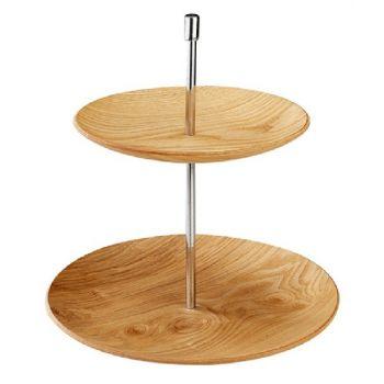 Etagère diam 19 + 25cm (rund) aus Holz
