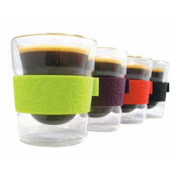 Make My Day doppelwandiges Glas 88ml Set von 2 Stück schwarz