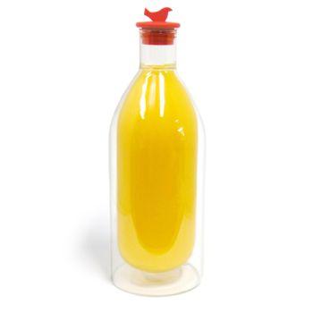 Make My Day doppelwandige Flasche Show off 750ml mit roter Schraubverschluss- MMD-JB01-BK