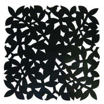 Make My Day schwarzes Platzdeckchen 31,5x31,5cmx1,5mm MMD-STP01-BK