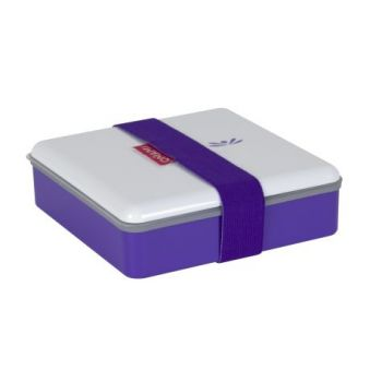 Omami violette Brotdose 15x15x4,6cm