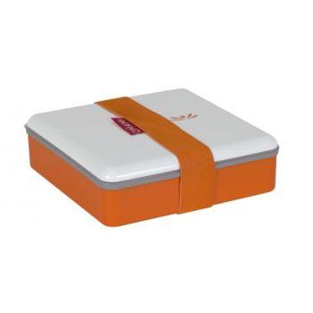 Omami orange Brotdose 15x15x4,6cm