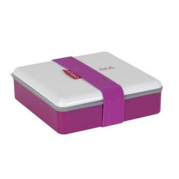 Omami rosafarbige Brotdose 15x15x4,6cm
