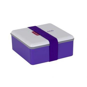 Omami violette Brotdose 15x15x6,7cm