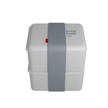 Omami weiße Brotdose 2 Stücke 12x10x6,7cm