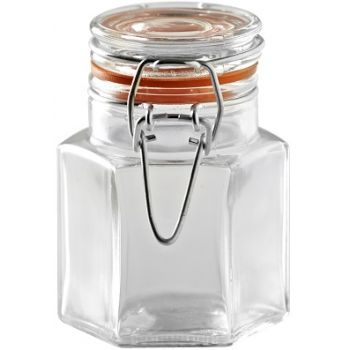 Kilner Hexagonale Glaspokal mit Verschluß 90ml