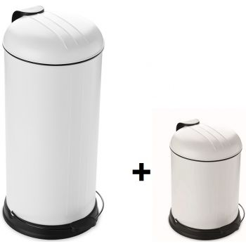 Point Virgule Promotion Rixx Mülleimer 30L+Kostenlos 5L White