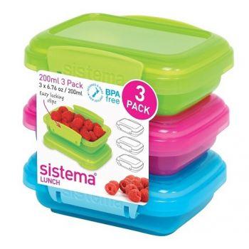 Sistema Lunch 3-teilig farbig 200ml