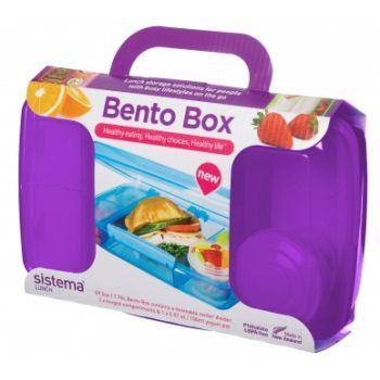 Sistema To Go Bento Box 1.76L mit Joghurtbecher violett