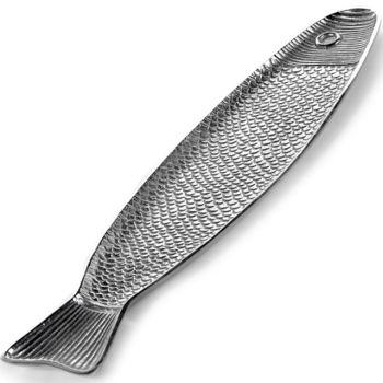 Paola Navone Fisch Schale B9516010 Fish&Fish Aluminium 58x14,4xH1,8cm