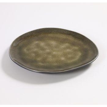 Pascale Naessens Pure ovaler Teller grün medium