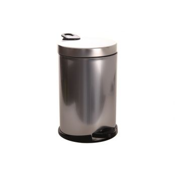 Pedal bucket 140157SB silver-black 14l