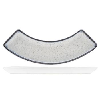 Andromeda rec. plate curved 19x10cm