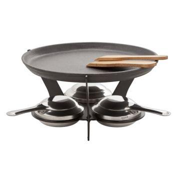 Fondue set 7-pcs incl 1 grill plate d25c
