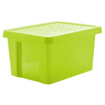 Curver Essentials storage box green with lid 16L