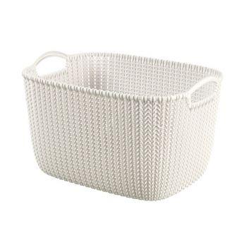 Curver Knit Korb Oasis White 19L