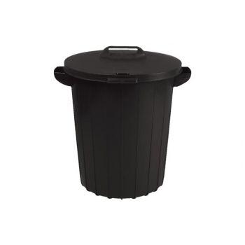 Street-Garden Garbage Can 90L Black 49x49xH60