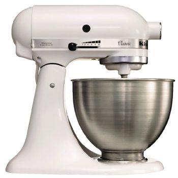 KitchenAid K45 professionele mixer wit 4.28L