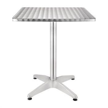 Bolero vierkante RVS tafel 60cm