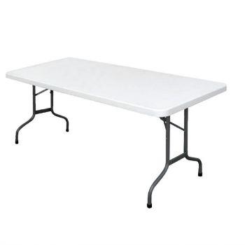 Bolero rechthoekige inklapbare tafel grijs 1.83m